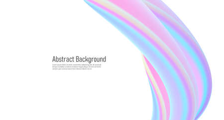 Abstract presentation cover with 3d vertical twist element, soft glossy pastel design Vectores