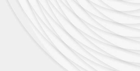 Abstract background with volume white lines in round radius, crossing and forming texture Vectores