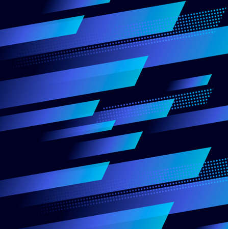 Abstract background with dynamic blue geometric shapes in motion forming graphic texture Vectores