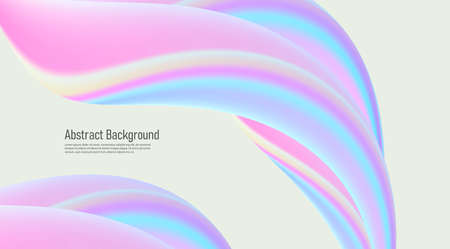 Abstract background with fluid 3d shapes, glossy pastel colors, soft lines forming composition