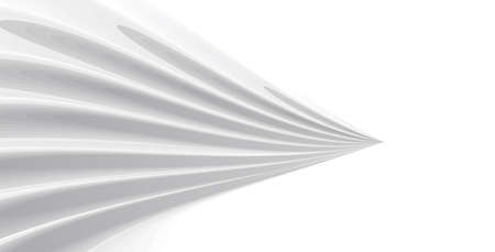 Abstract 3d graphic element, white cone with texture on white background