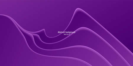 Flowing purple waves creating abstract presentation background