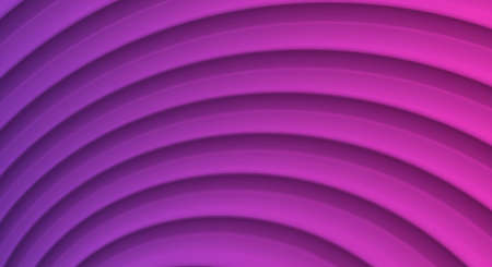 Abstract illustration with 3d waves forming layered texture in violet colors