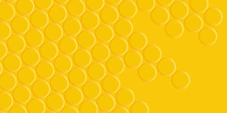 Yellow background with round mosaic, monochrome texture