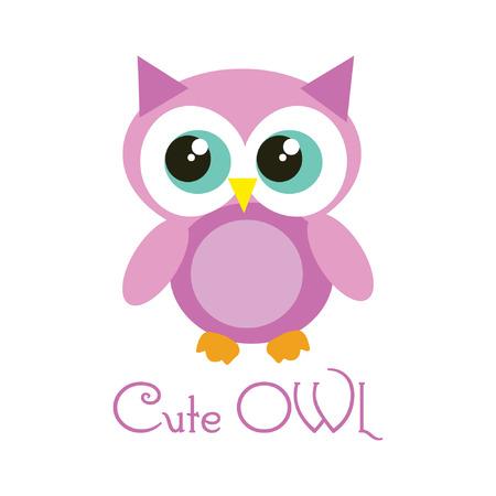 owl illustration: cute owl vector illustration Illustration