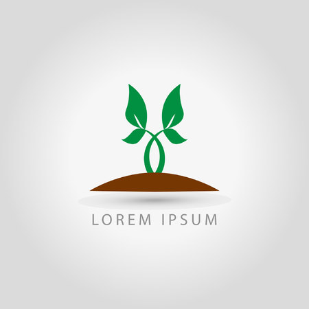 business sign: business plant icon sign Illustration