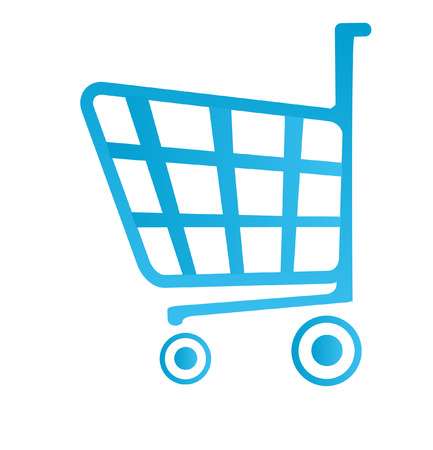 chrome cart: shop basket icon Illustration