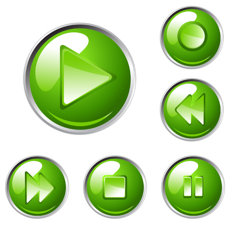 vector media player buttons Vector
