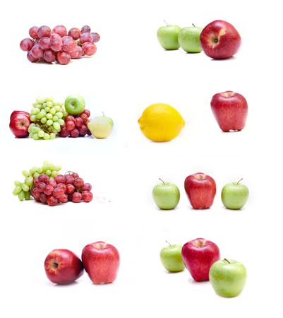 collection of isolated fruits Stock Photo - 4673742