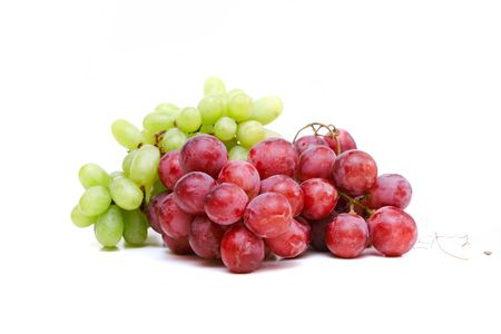 Close-up of a bunch of grapes green  and purple Stock Photo - 4673761