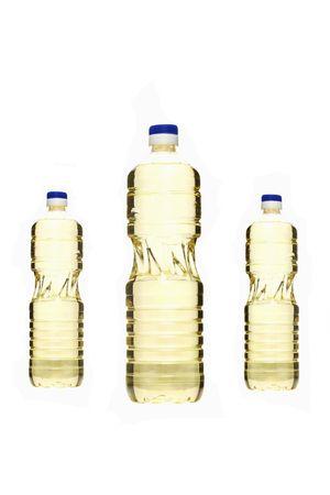 alimentary: three oil bottles isolated