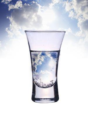 mineralized: glass in sky Stock Photo