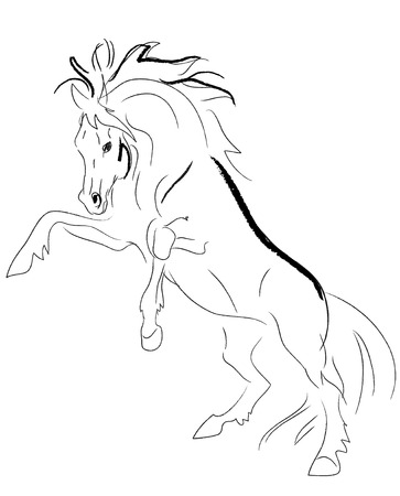 stallion rears vector Stock Vector - 5793021