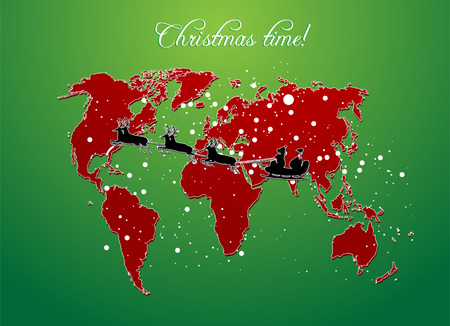 christmas map Vector