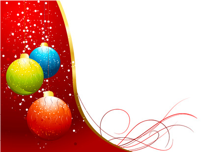 christmas balls background Stock Vector - 6046542