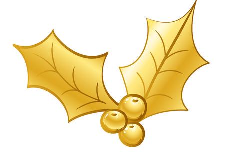golden holly Vector