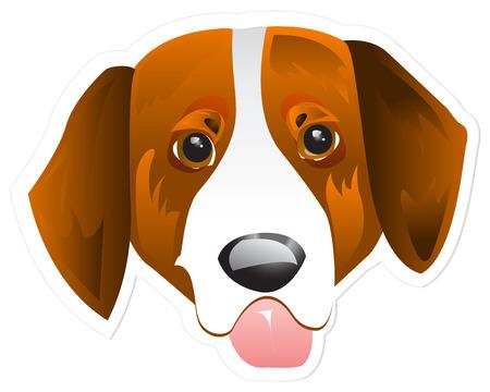 tete chien: t�te de chien de vecteurs.