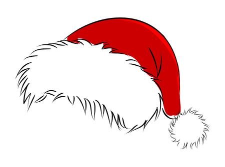 winter hat: vector santa hat