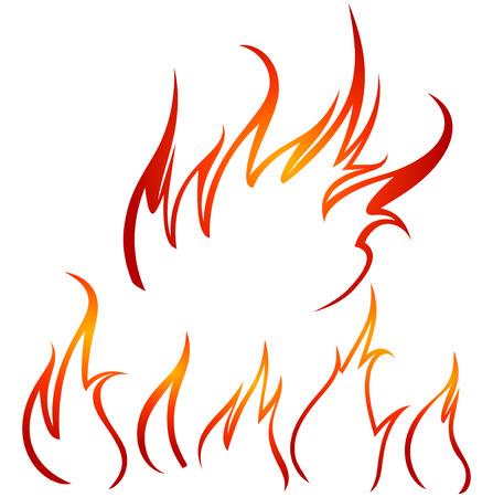 vector fire contours Vector