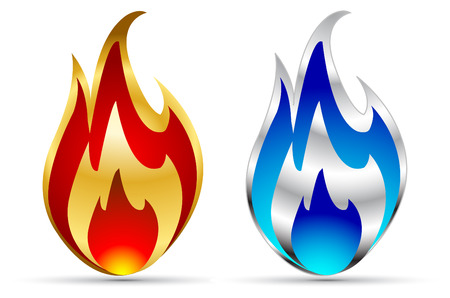 vector flame icons Stock Vector - 6208514