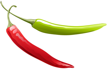 chilli: peppers red and green