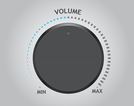 adjusting: volume dial