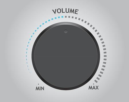 knobs: volume dial