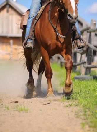 montar a caballo del oeste photo