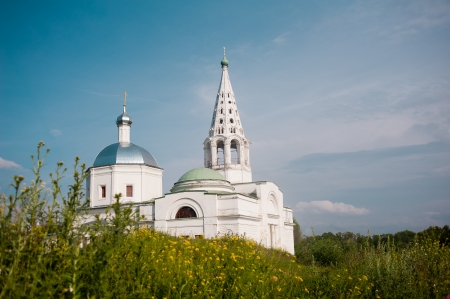 nerl river: Russian church in summer