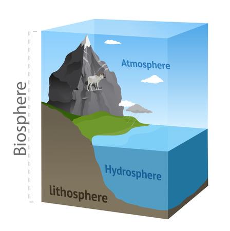 Biosphere Schema Standard-Bild - 22881763