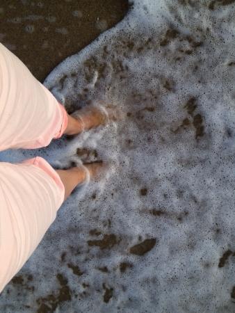 pants: Legs in sea foam