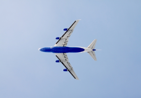 viewport: plane in the air Stock Photo