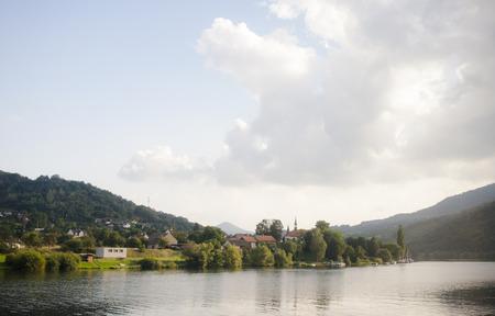 eastern: View of Elba river in eastern Germany