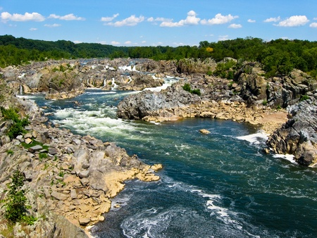 View of the Potomac River from Great Falls State Park in northern Virginia, USA Stock Photo - 11884399