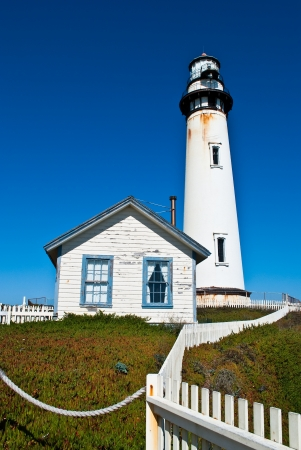 Pigeon Point Lighthouse in Central California, USA photo