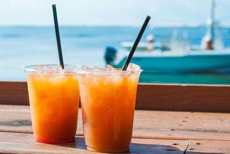 fruity: Fruity Drinks by the Sea