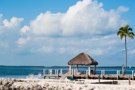 llaves: Océano y muelle en Key Largo