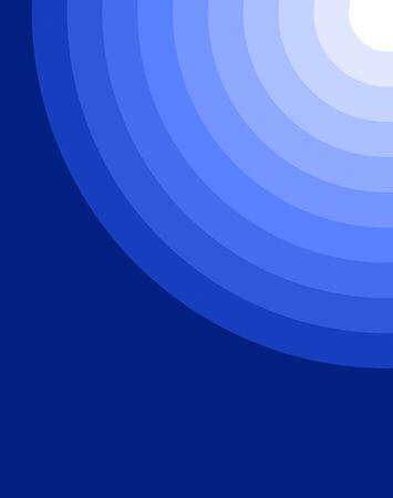 Circles on a cobalt blue background