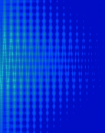 sound card: Cobalt blue with light blue sound waves background Stock Photo