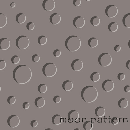 moon surface: seamless pattern of moon surface in vector Illustration