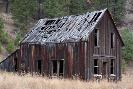 Old Ghost town building as it ages. photo