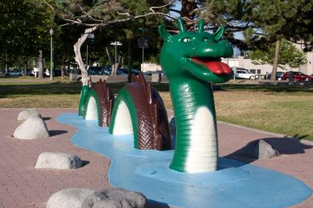 sea monster: Ogo Pogo, the famous sea monster  Stock Photo