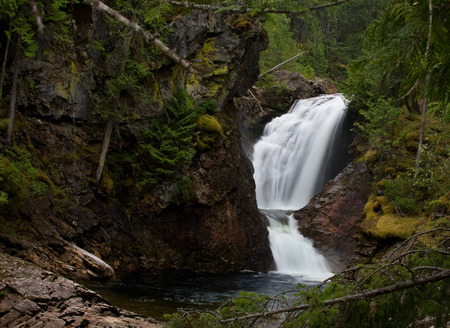 A lovely waterfall in a lovely forest setting