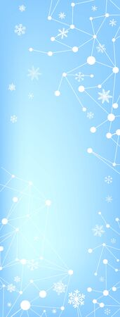 A Blue abstract background of a snowflake. Christmas card. Vector Standard-Bild - 134847449