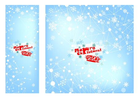 A Blue abstract background of a snowflake. Christmas card. Vector Standard-Bild - 134847572