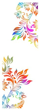 Rainbow abstract flower. Vector colorful