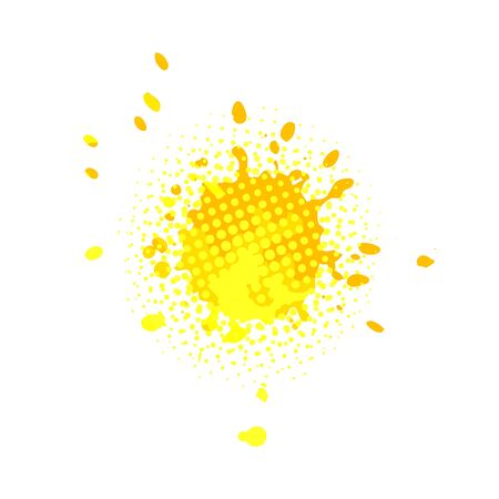 Abstract sun from the stains of paint. Vector illustration Banque d'images - 134847671
