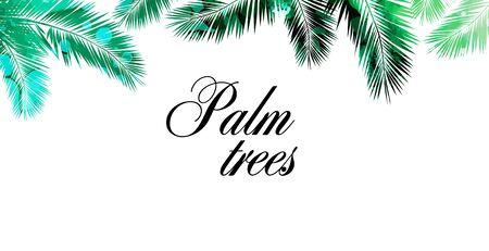 Abstraction of watercolor palms. Vector illustration Иллюстрация