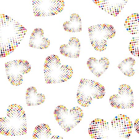 A multicolored heart from dots. Love. Vector illustration
