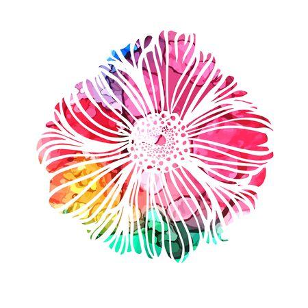 Rainbow abstract flower. Vector illustration Vecteurs
